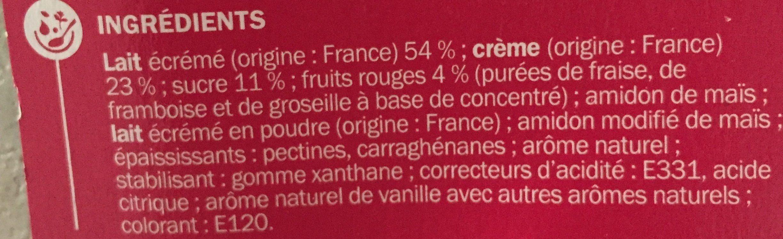 Panna cotta aux fruits rouges x 4 - Ingredients - fr