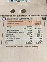 Crème onctueuse au caramel - Informations nutritionnelles - fr