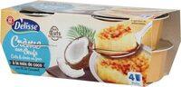 Crème aux oeufs à la noix de coco sur lit de caramel - Produit - fr