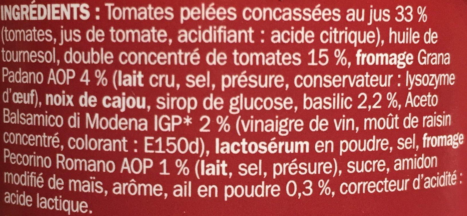 Pesto rosso - Ingredienti - fr