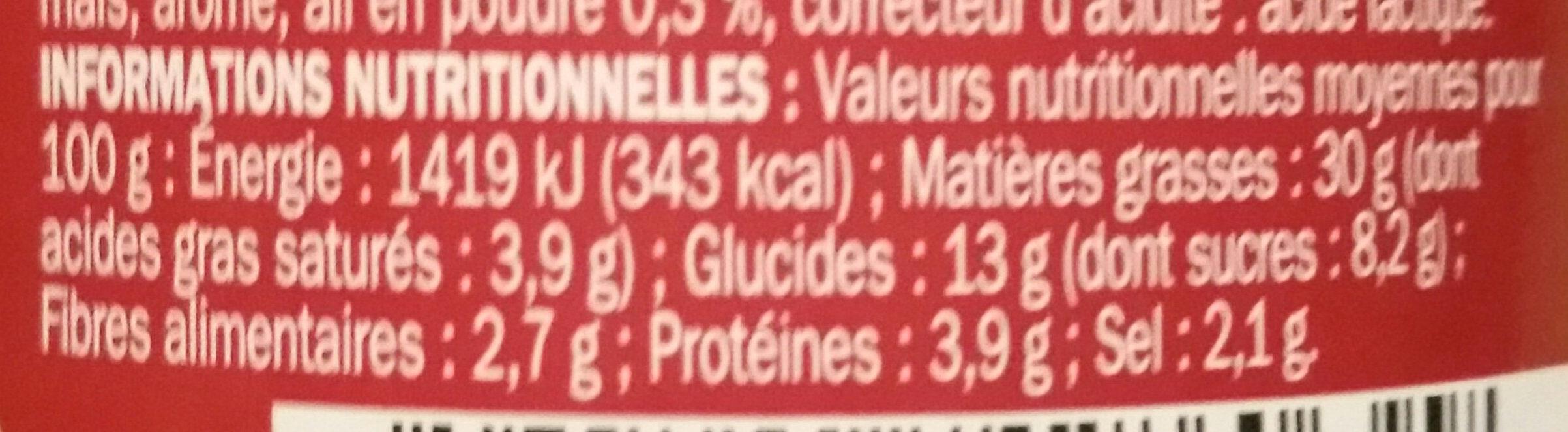 Pesto rosso - Valori nutrizionali - fr