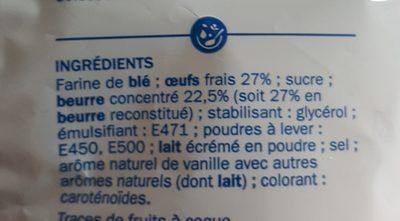 Mini quatre-quarts de Bretagne - Ingrédients - fr