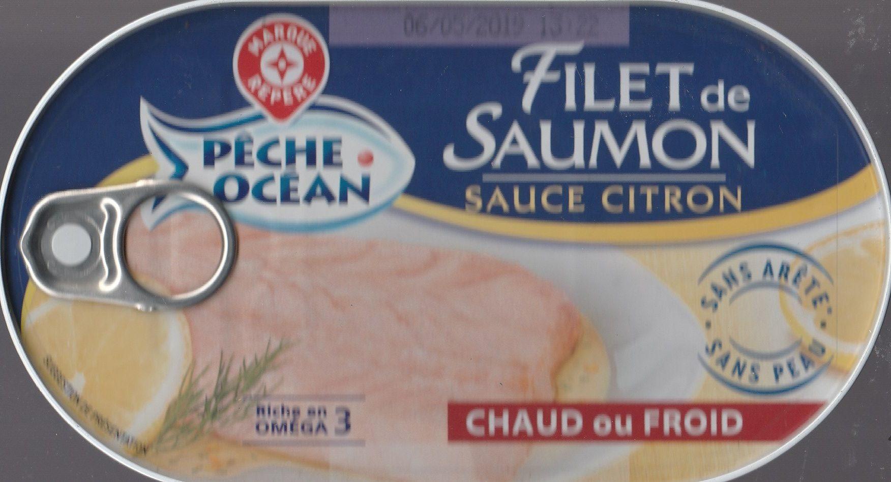 Filet de Saumon sauce citron - Produit