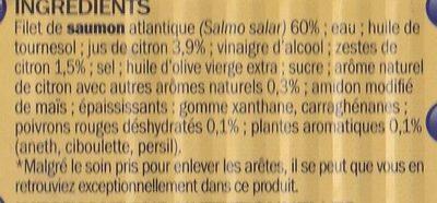 Filet de Saumon sauce citron - Ingrédients
