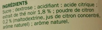 Britley - Boisson Instantanée Thé Saveur Citron - Ingredients - fr