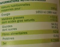 Britley - Boisson Instantanée Thé Saveur Citron - Nutrition facts - fr