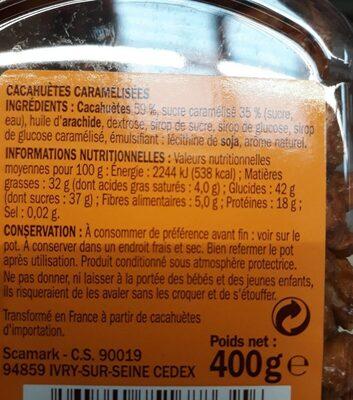 Chouchou caramelisés - Voedingswaarden - fr