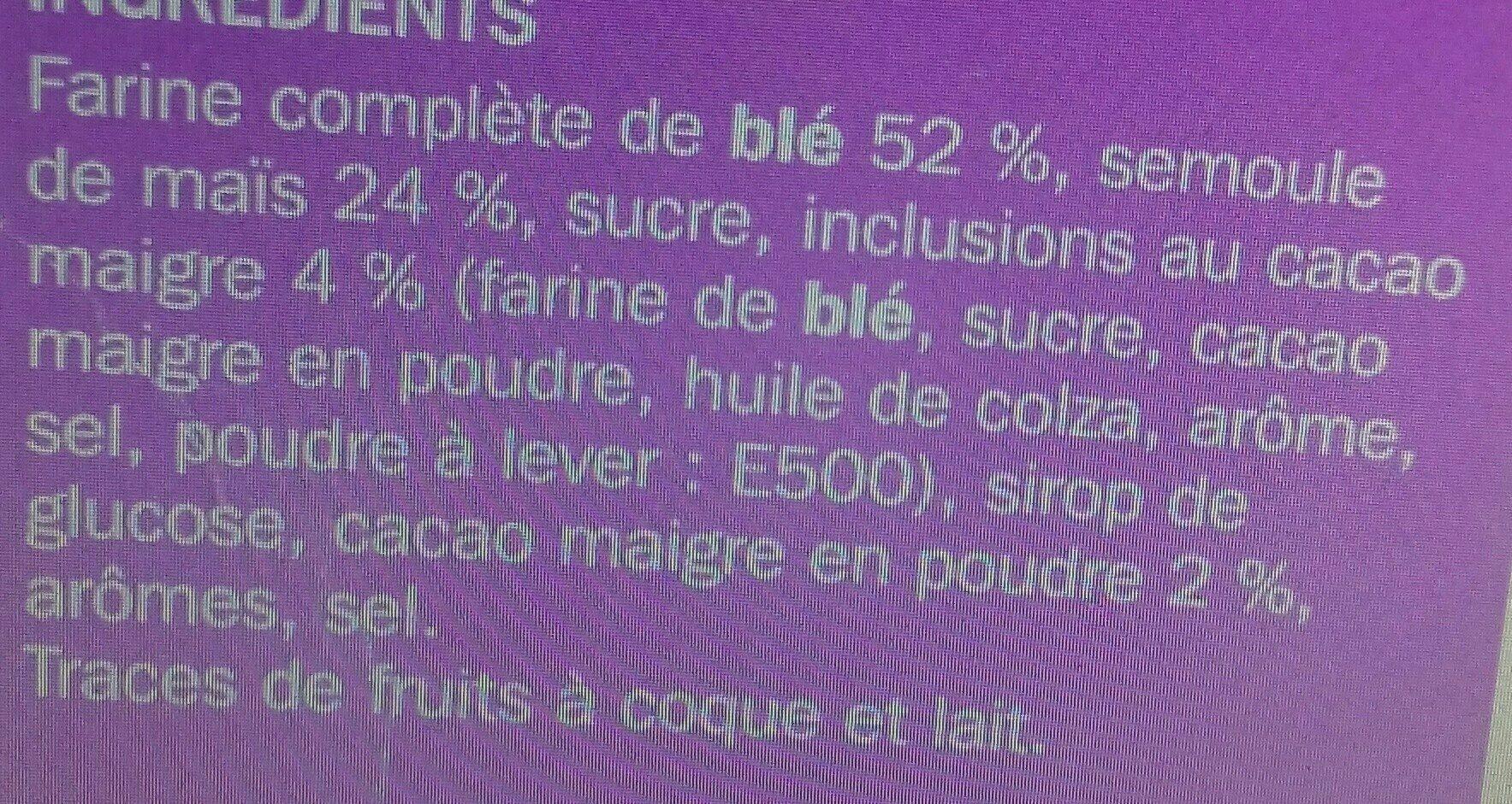 Céréales mini cookies - Ingrédients - fr