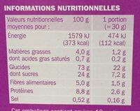 Céréales mini cookies - Informations nutritionnelles - fr