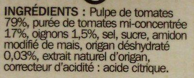 Sauce origan - Ingrediënten - fr
