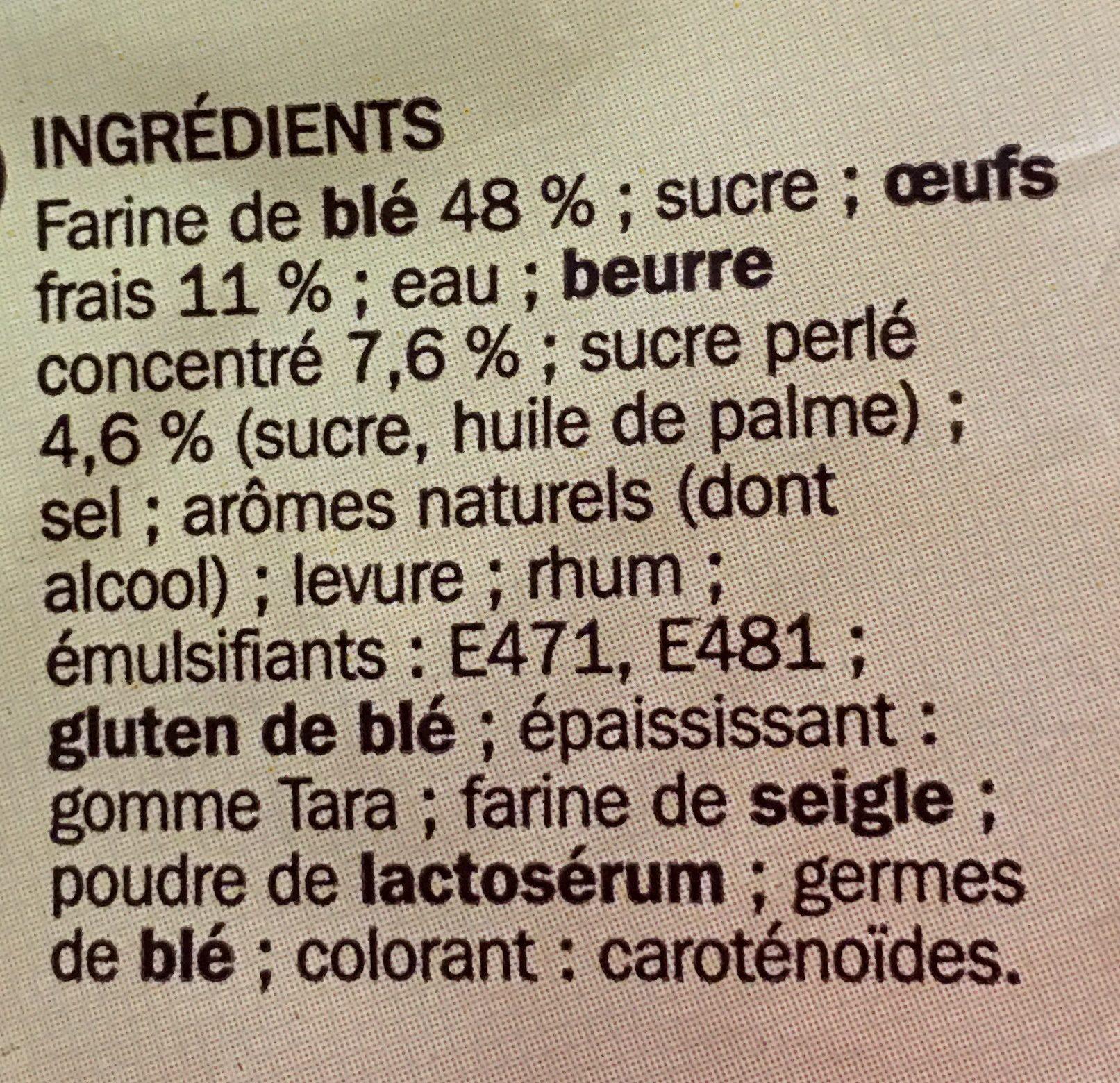 Brioche tressée aux perles de sucre - Ingrédients - fr
