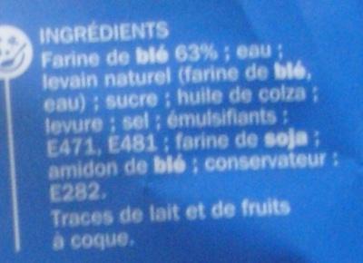 Pain de mie spécial croque monsieur - Ingrediënten - fr
