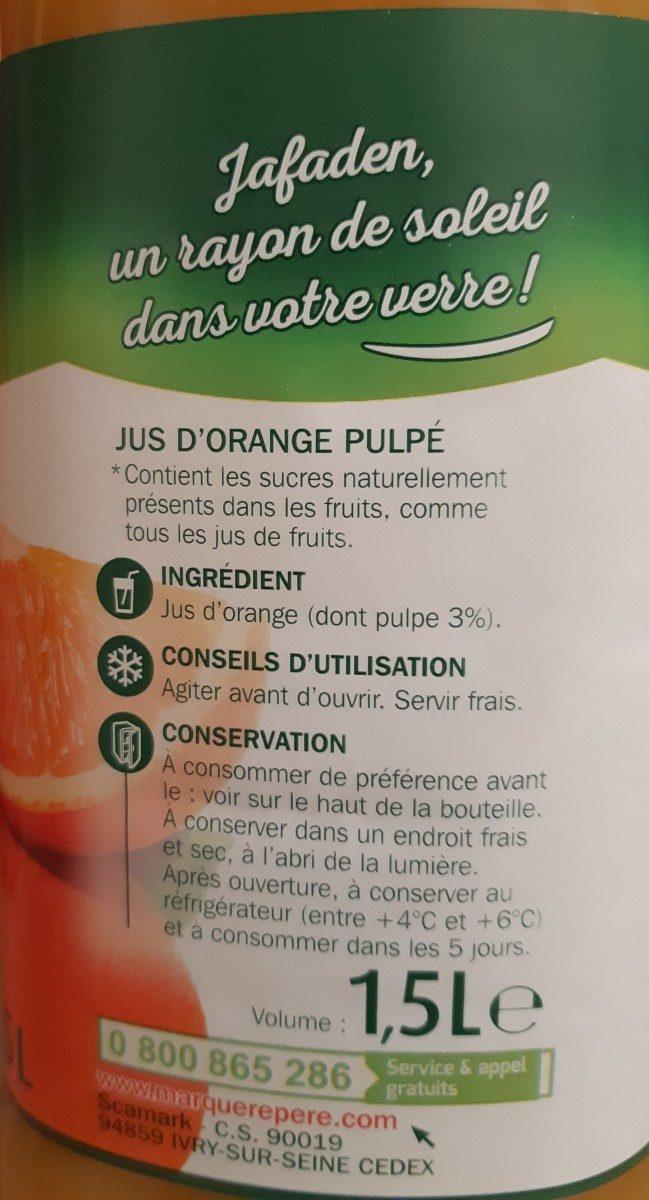 Pur jus d'orange pulpe - Ingrediënten - fr