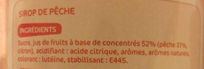 Sirop de pêche - Ingrédients - fr