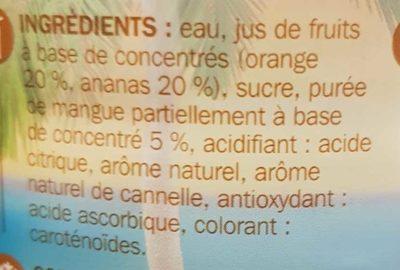 Cocktail sans alcool façon planteur - Ingredients