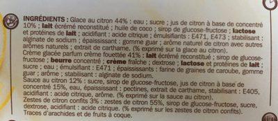 Coupes glacées citron *2 - Ingrediënten - fr