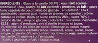 Bâtonnets Pop bonbons glace vanille x 8 - Ingredients