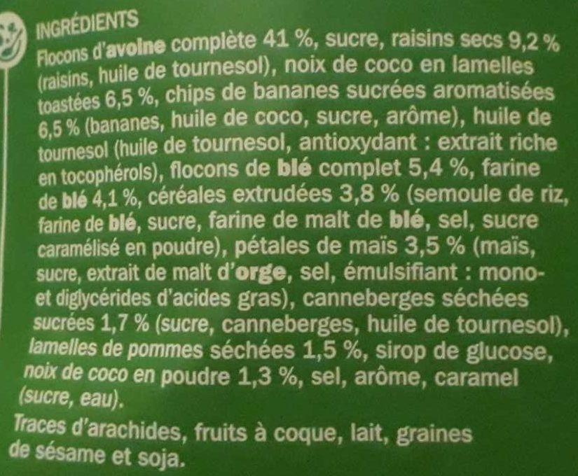 Muesli croustillant aux fruits - Ingredienti - fr
