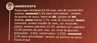 Endives au jambon surgelées x 4 - Ingrédients