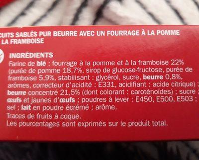 Sablés fourrés framboise - Ingrédients
