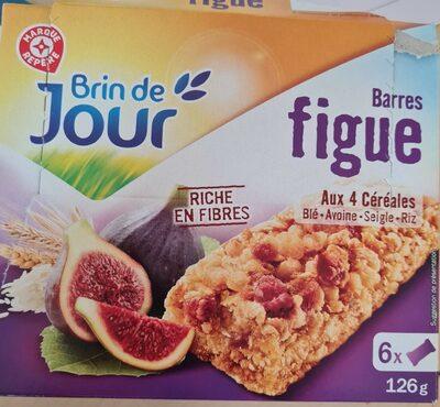 Barres céréales figue x 6 - Produit - fr