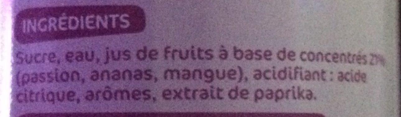 Sirop de fruits exotiques - Ingrédients - fr