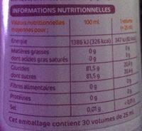 Sirop de fruits exotiques - Informations nutritionnelles - fr