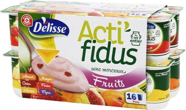 Actifidus ferme avec morceaux de fruits - Product - fr