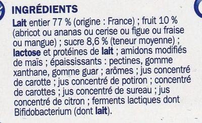 Actifidus ferme avec morceaux de fruits - Ingrediënten - fr