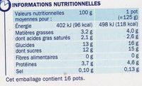 Actifidus ferme avec morceaux de fruits - Voedingswaarden - fr