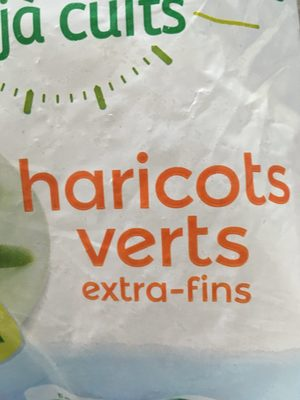 Haricots verts extra fins cuits - Ingrédients - fr