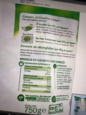 Brocolis cuits - Ingrédients - fr