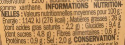 Côteaux Varois en Provence A.O.C. - Bag-in-Box® - Informations nutritionnelles - fr