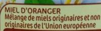 Miel fleur d'oranger squeezer - Ingredients - fr