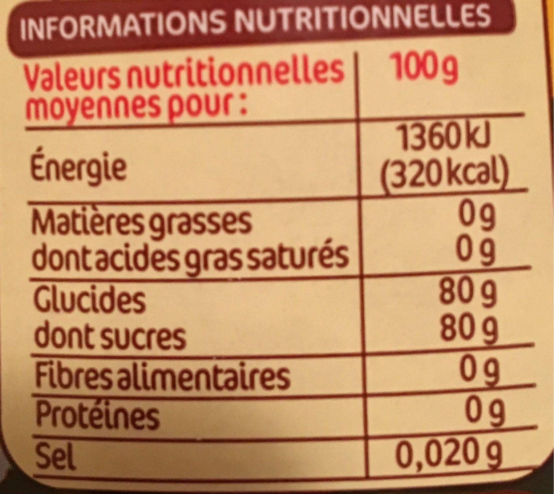 Miel fleur d'oranger squeezer - Nutrition facts - fr