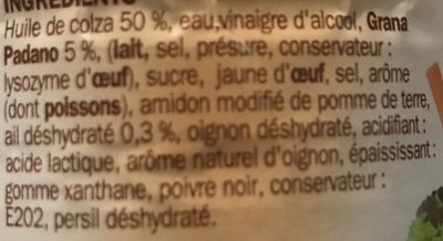 Sauce crudités caesar - Ingrediënten - fr