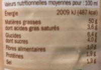 Sauce crudités caesar - Voedingswaarden - fr