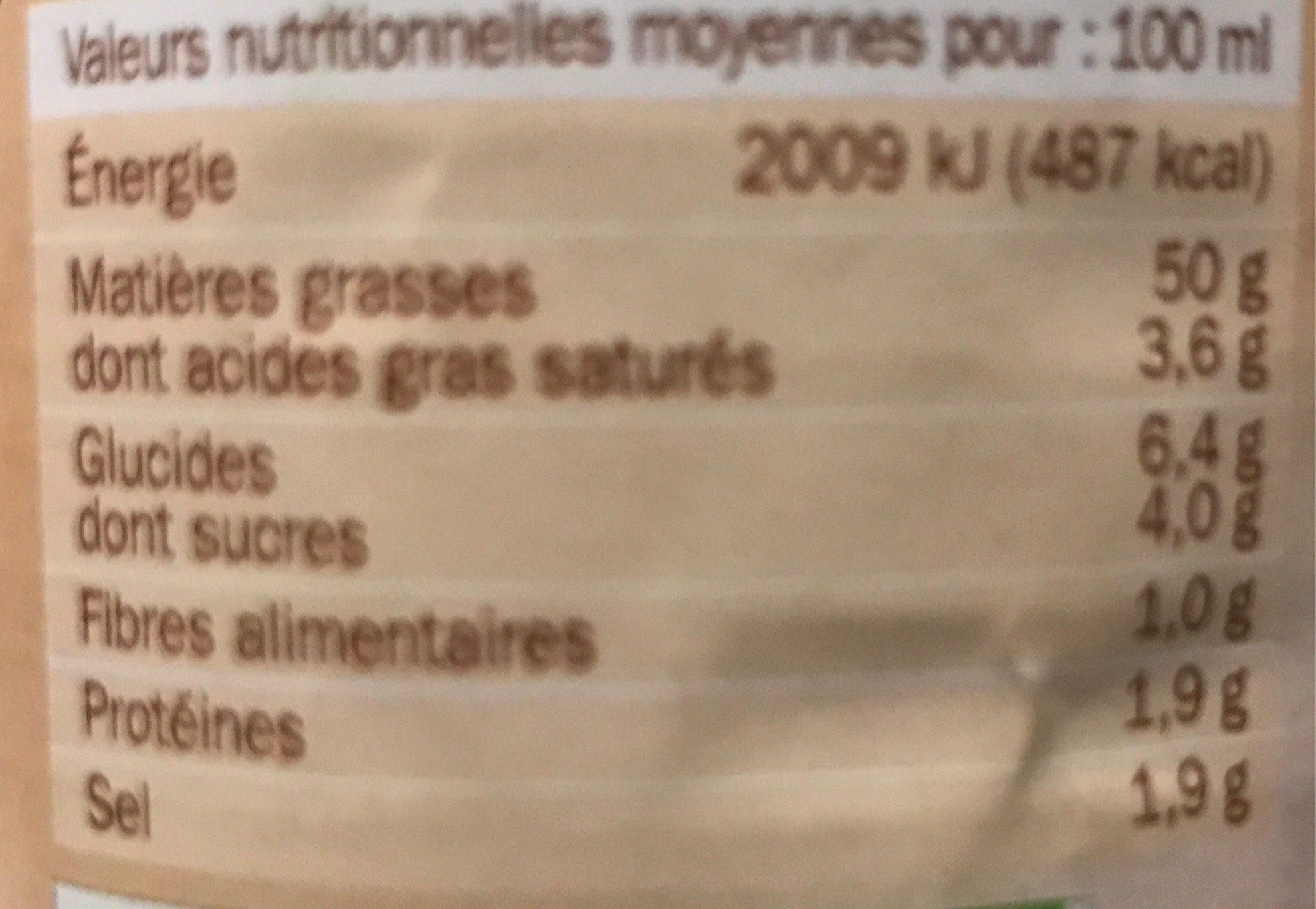 Sauce crudités caesar - Voedigswaarden
