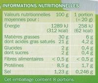 Fromage blanc fondu 30% Mat. Gr. x 8 - Informations nutritionnelles - fr