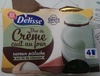 Petit pot de crème pistache sur lit de chocolat - Produit