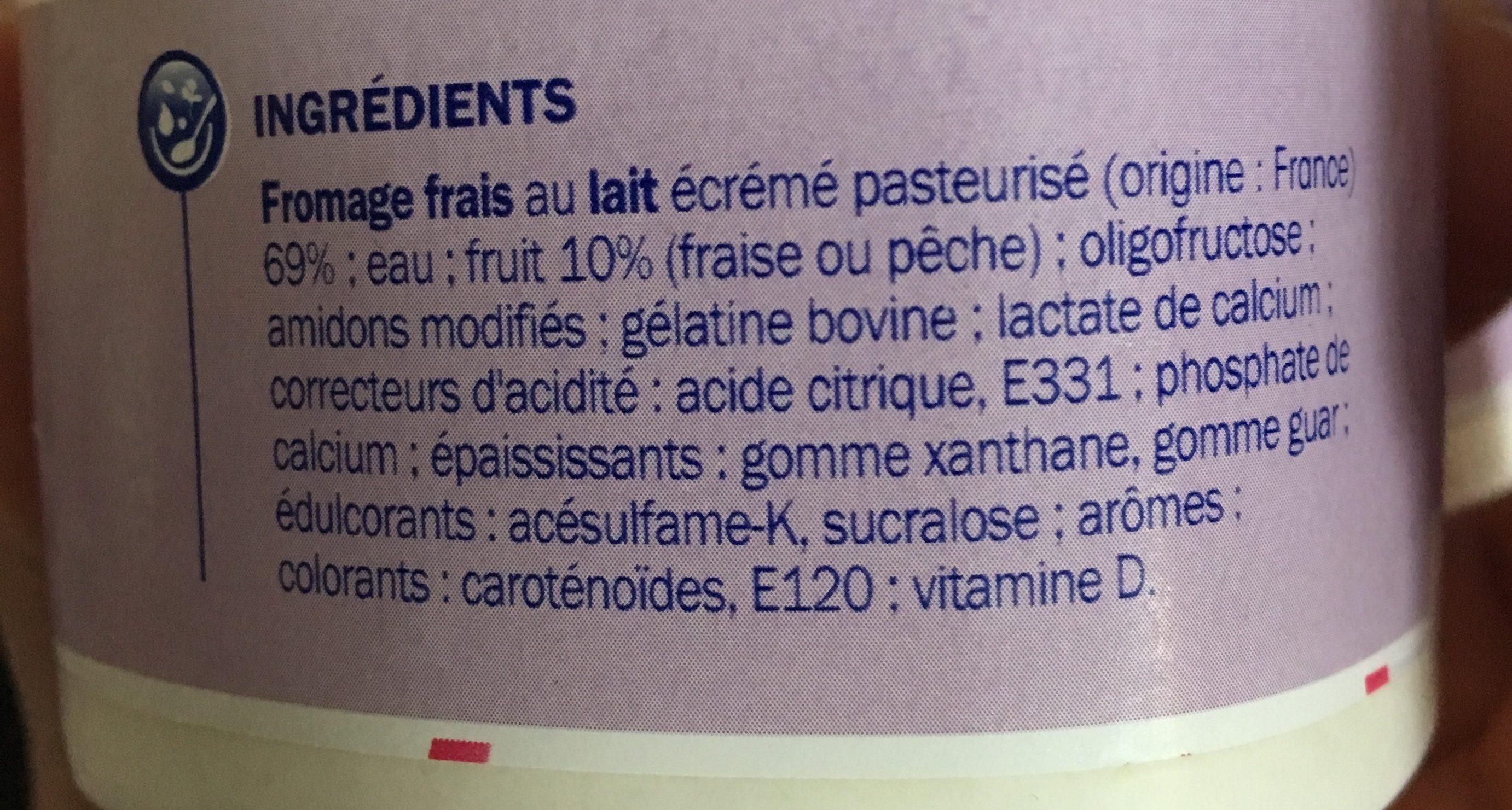 Mousse de fromage frais sur lit de fruits 0% - Ingredients - fr