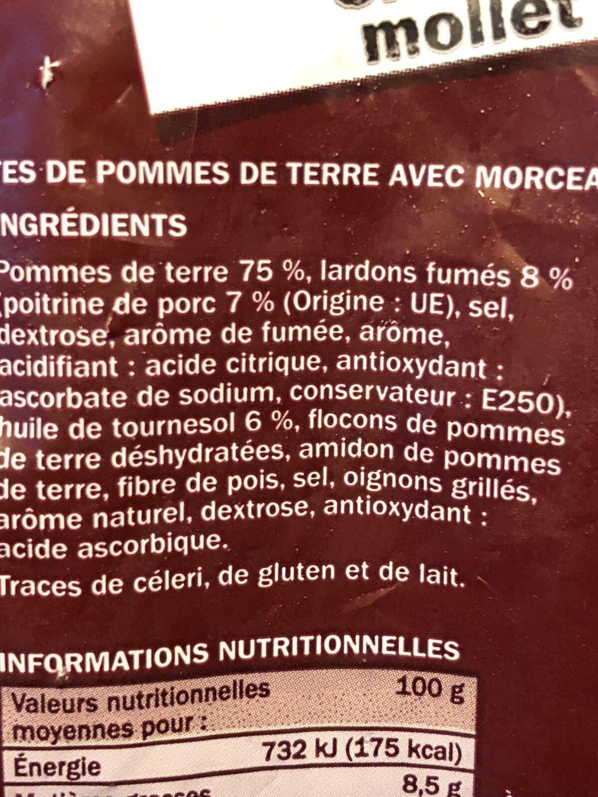 Rösti lardons - Ingredients