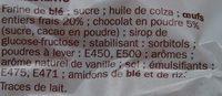 Barre marbre chocolat - Ingrédients