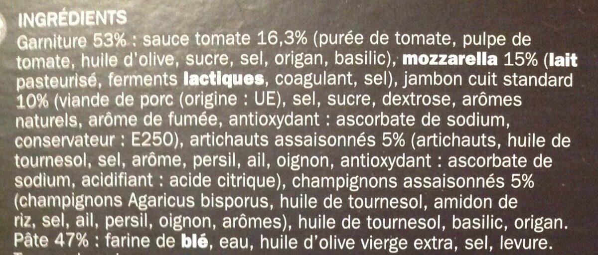 Pizza italienne jambon cuit et mozzarella - Ingredients