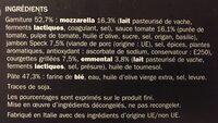 Pizza italienne jambon speck et mozzarella - Ingrédients - fr