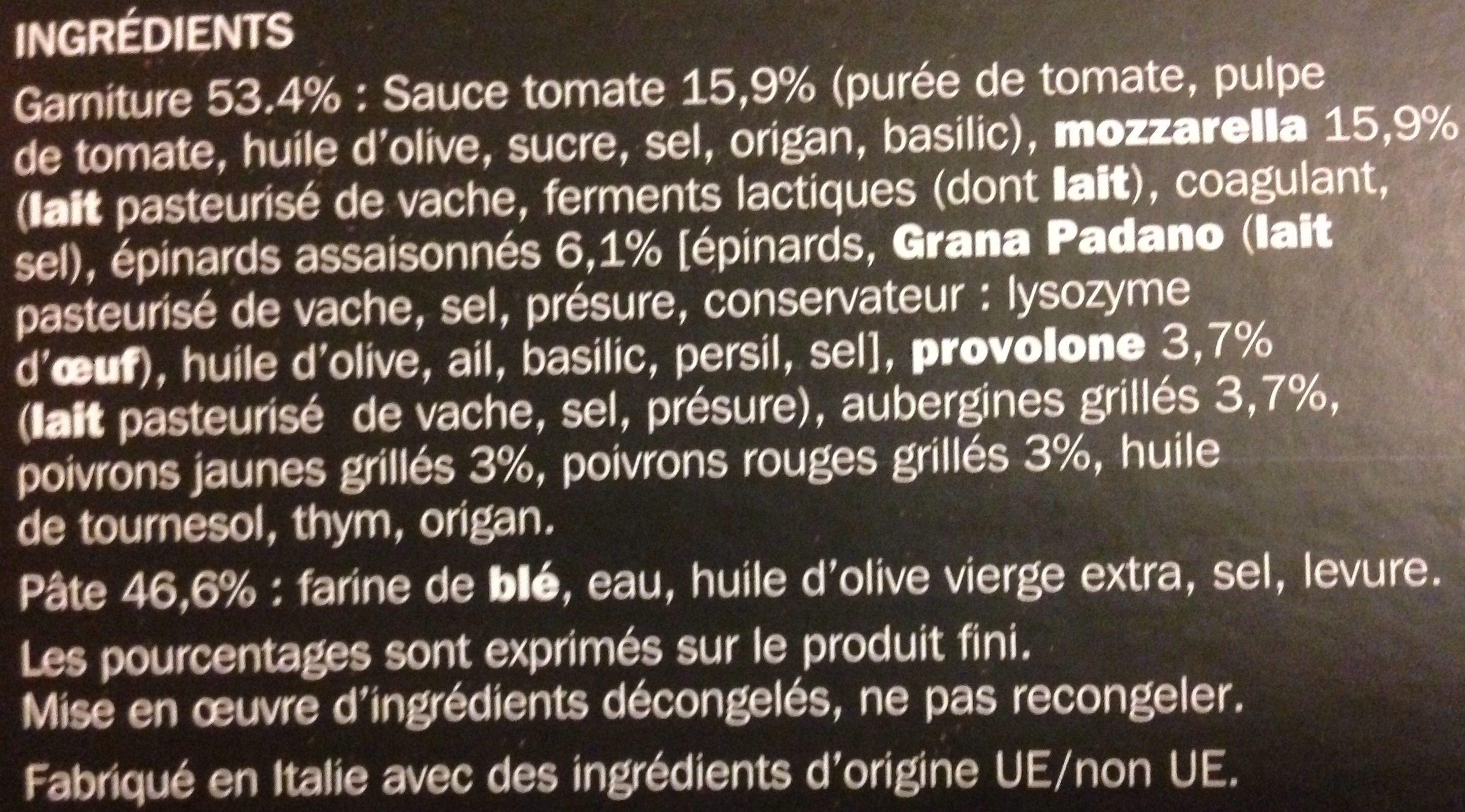 Pizza italienne légumes grillés - Ingrédients - fr