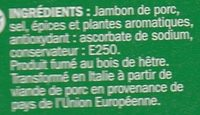 Jambon speck italien 9 tranches - Ingrediënten - fr