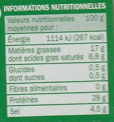 Jambon speck italien 9 tranches - Voedingswaarden - fr