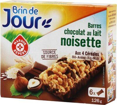 Barres céréales chocolat au lait noisette x 6 - Produit - fr