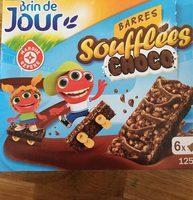 Barres céréales soufflées chocolat x 6 - Produit - fr